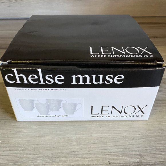 LENOX NEW CHELSE MUSE SET OF 4 MUGS NEW IN BOX